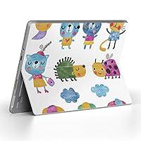 Surface go 専用スキンシール サーフェス go ノートブック ノートパソコン カバー ケース フィルム ステッカー アクセサリー 保護 動物 うさぎ キャラクター 009791