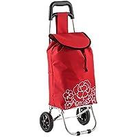 ホイール付き実用トロリー食料品のショッピングカート取り外し可能なバッグポータブルカート高齢者のショッピングカート38x26x85cm