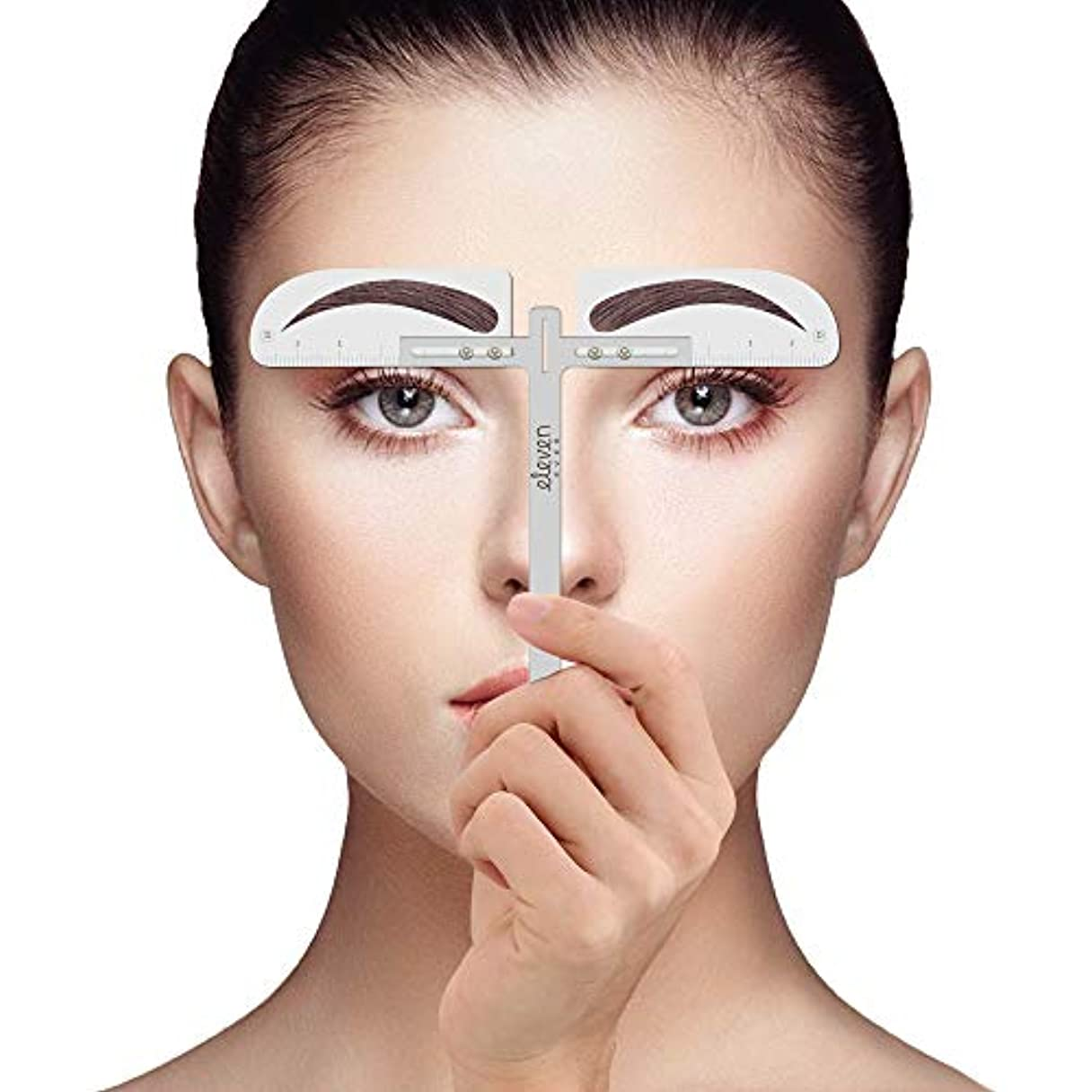 ELEVEN EVER眉毛の定規 キット-眉毛のステンシル 化粧入れ墨の眉ツール(淑女)