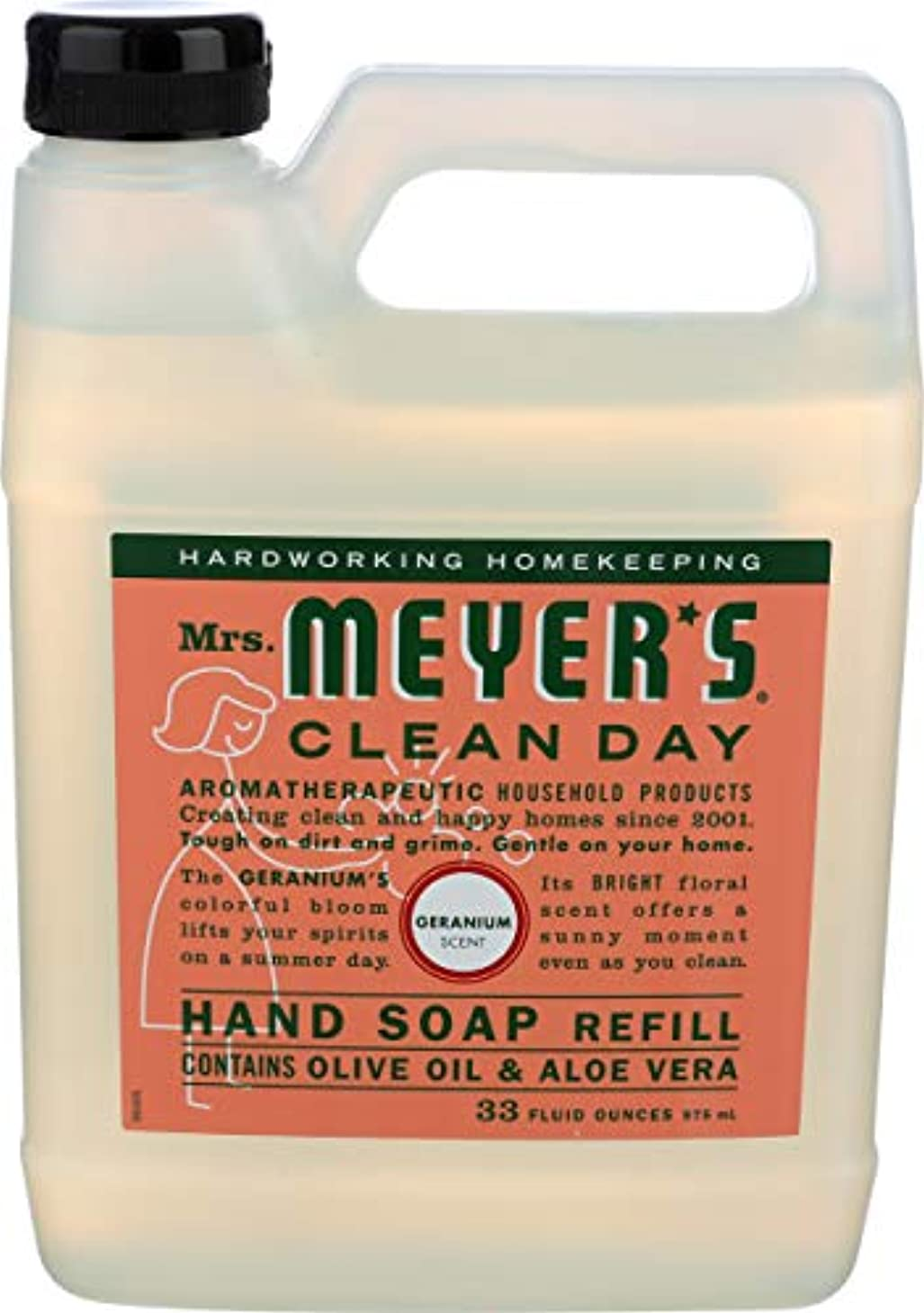 ガラス反発厳密にMRS. MEYER'S HAND SOAP,LIQ,REFL,GERANM, 33 FZ by Mrs. Meyers