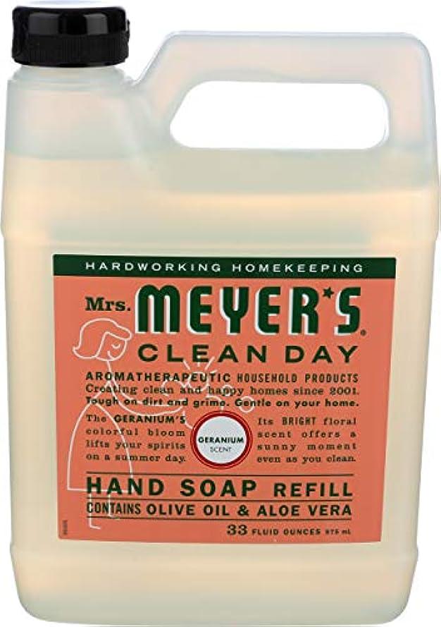 有利マート思いつくMRS. MEYER'S HAND SOAP,LIQ,REFL,GERANM, 33 FZ by Mrs. Meyers