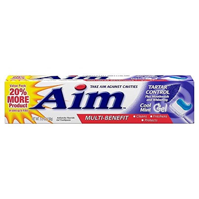 講義コカイン降伏AIM タルタルコントロール虫歯予防フッ化物歯磨きジェル - 5.5オズ、3パック