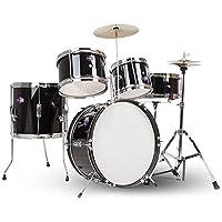 ドラム・パーカッション ドラム大人ドラムセット初心者ジャズドラム男の子と少女初期学習パーカッション楽器子供のおもちゃ (Color : Black, Size : 79*60*59cm)