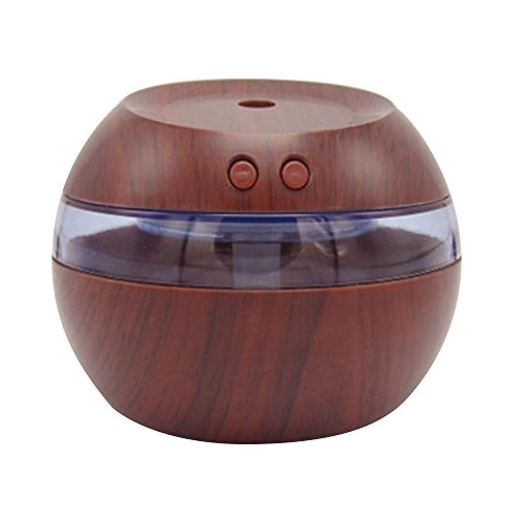 ホームレスピッチャー責任者Cozyrom 超音波式 USB給電 空焚き防止 自動停止機能 車内用 部屋用 木目調 290ML スタイル1