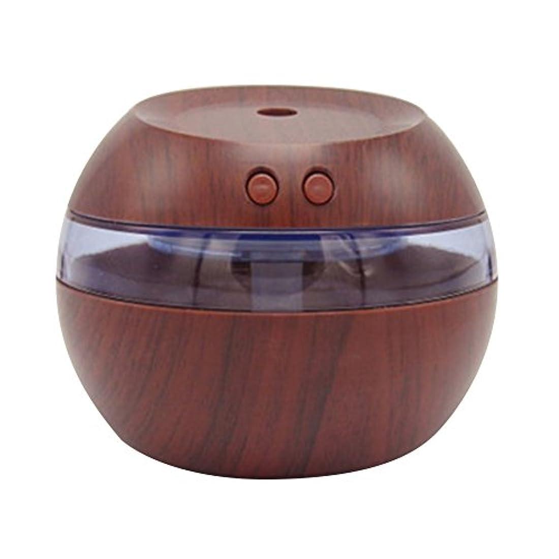 Cozyrom 超音波式 USB給電 空焚き防止 自動停止機能 車内用 部屋用 木目調 290ML スタイル1