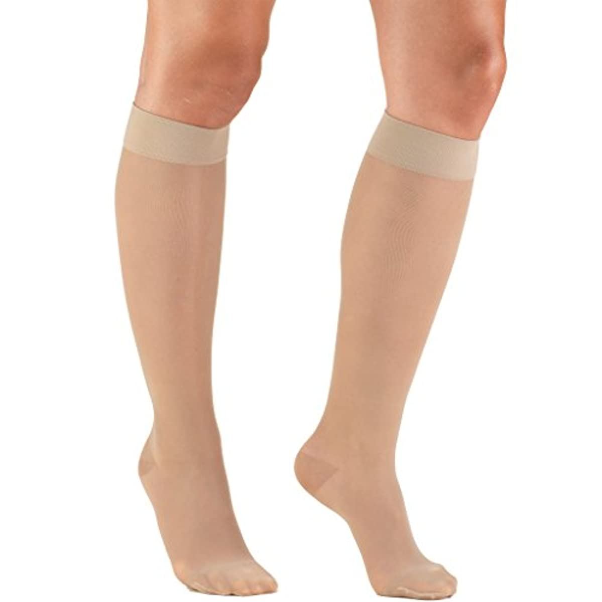 やさしい起きる退屈なTruform 1773ND-XL Womens LITES 15-20 mmHg Knee High Support Stockings - Size- X-Large, Color- Nude