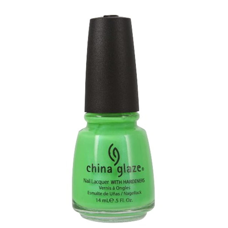 薬用湖溶融(3 Pack) CHINA GLAZE Nail Lacquer with Nail Hardner - In The Lime Light Neon (並行輸入品)