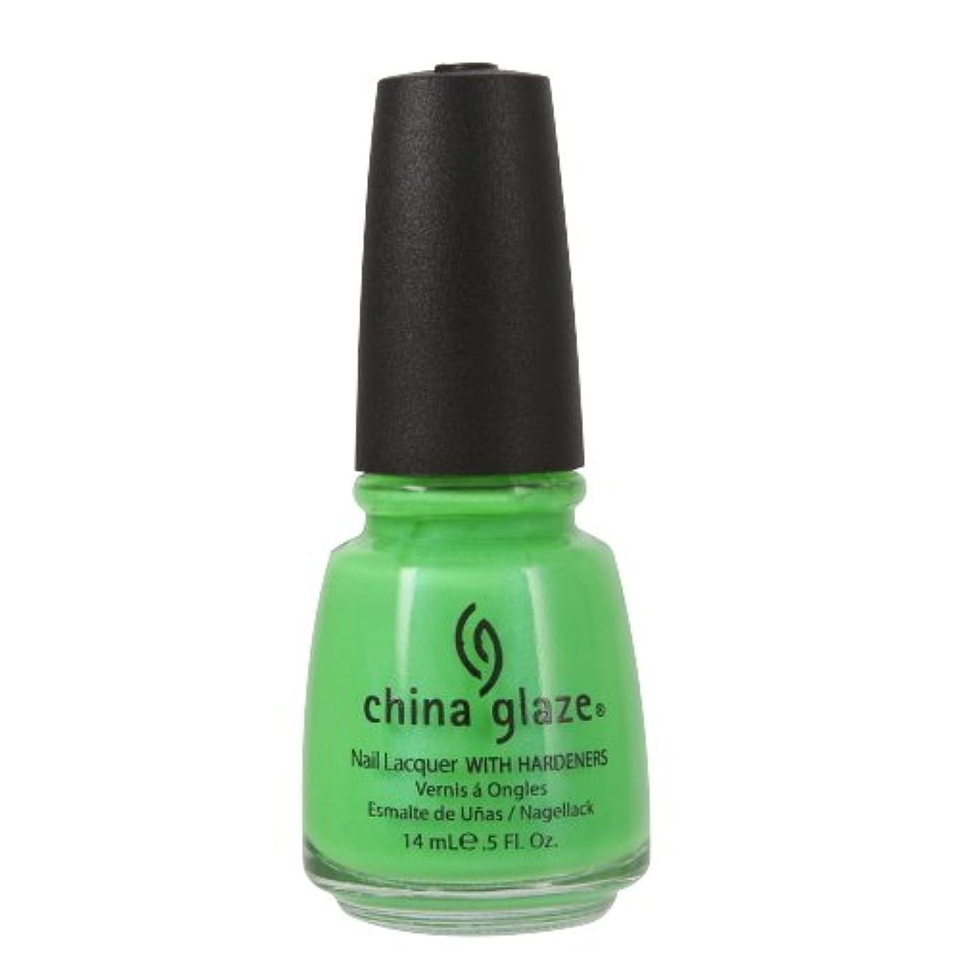 上記の頭と肩幻影速度(3 Pack) CHINA GLAZE Nail Lacquer with Nail Hardner - In The Lime Light Neon (並行輸入品)