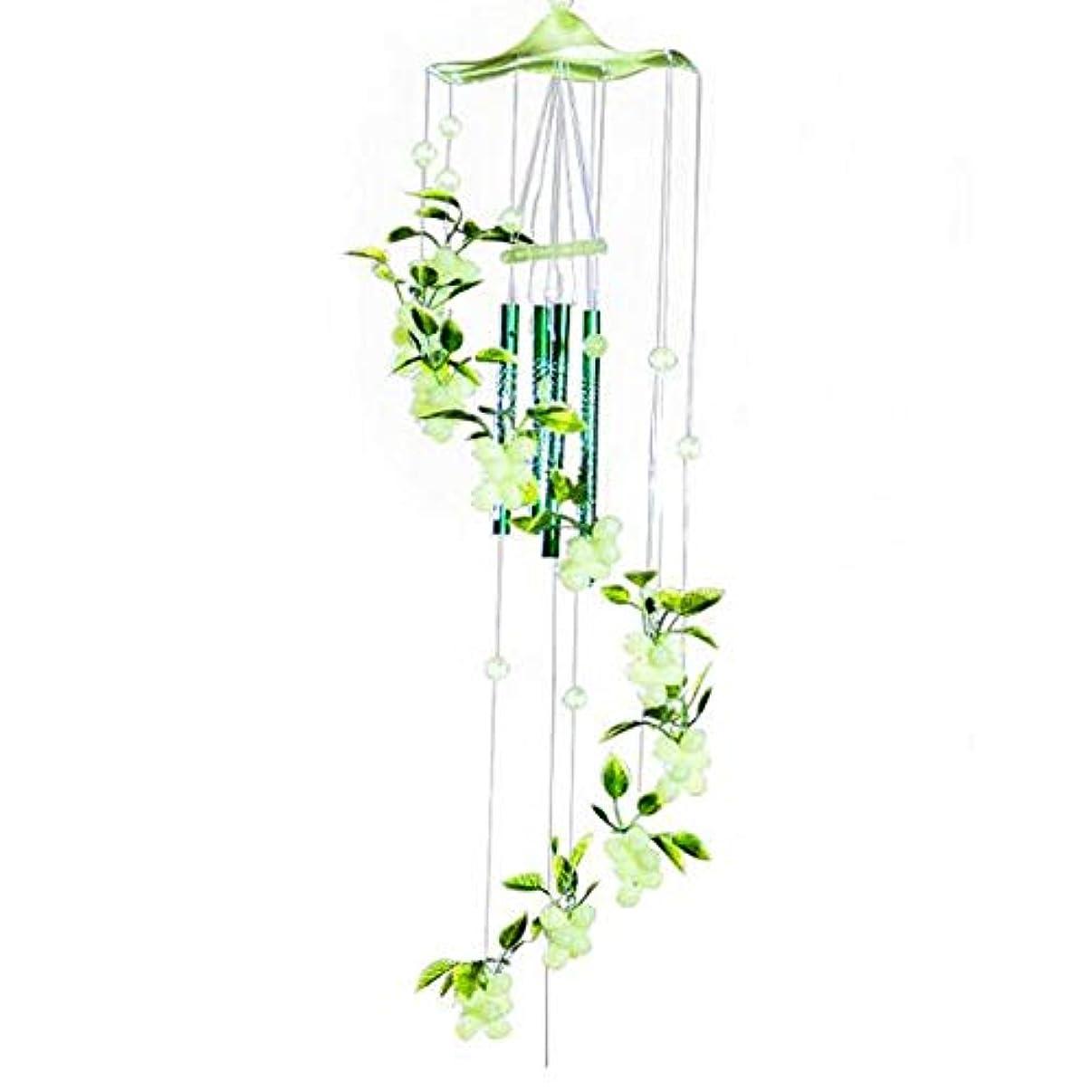 仮定、想定。推測ラッシュシャークJielongtongxun 風チャイム、メタルブドウ風チャイム、グリーン、全身について70CM,絶妙な飾り