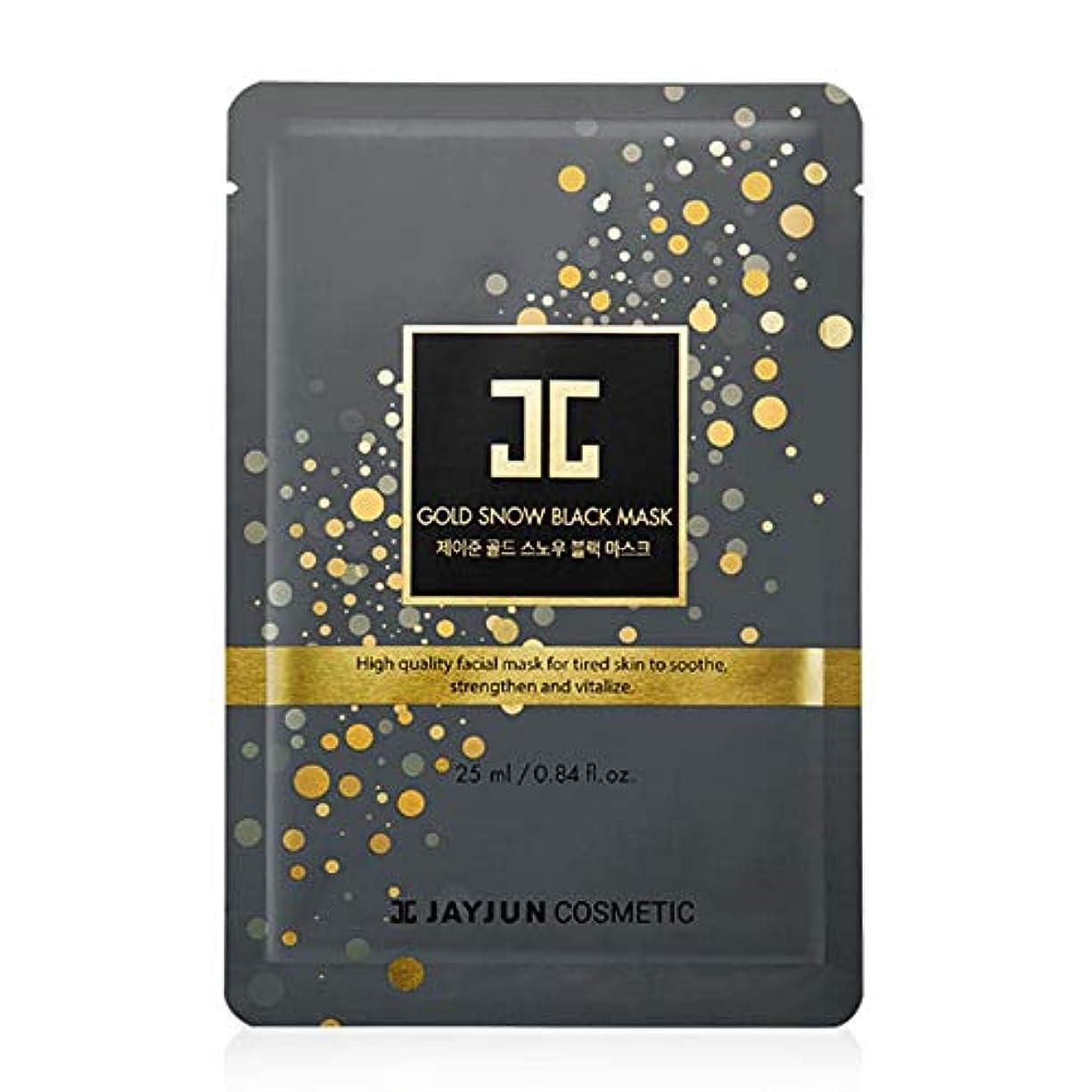 建設静かに前書きJayjun(ジェイジュン) ゴールドスノーブラックマスク(専用セラム5個付)25ml 5枚セット