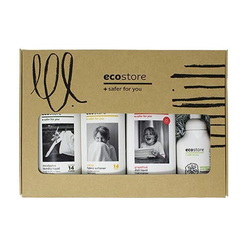 ecostore(エコストア) ベーシックキット L 【ランドリーリキッド?ファブリックソフナー?ディッシュウォッシュリキッド?ハンドウォッシュ 泡タイプ】 BOXセット