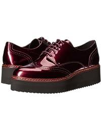 Shellys London(シェリーズロンドン) レディース 女性用 シューズ 靴 オックスフォード 紳士靴 通勤靴 Tommy Platform Oxford - Burgundy [並行輸入品]