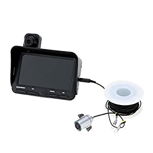 "4.3"" HD TFT LCD モニタースクリーン 暗視 魚群探知機フィッシュファインダー DVRビデオ 6pcs*赤外線LED 水中カメラ 釣り + 水上カメラ ワイドアングル20Mケーブル[並行輸入]"