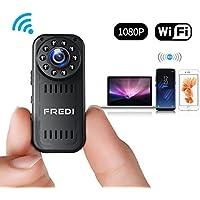FREDI 超小型隠しカメラ 1080P防犯監視カメラ 高画質ワイヤレス小型カメラ WiFi対応スパイカメラ 4分割画面 小型隠しビデオカメラ 長時間録画録音 暗視録画機能付き 日本語取扱 動体検知 iPhone/Android 遠隔監視・操作