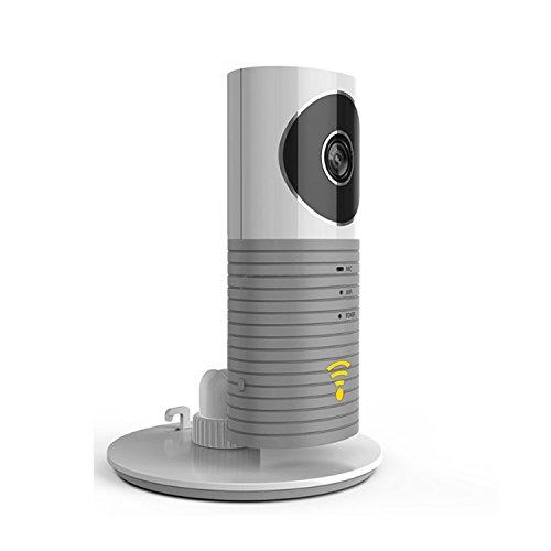 Plater®スマートベビーモニター Wifiビデオモニター P2P 暗視機能搭載 [双方向音声通信]2way対応 TF Card サポート Iphone Ipad Android スマホ対応 (Grey)