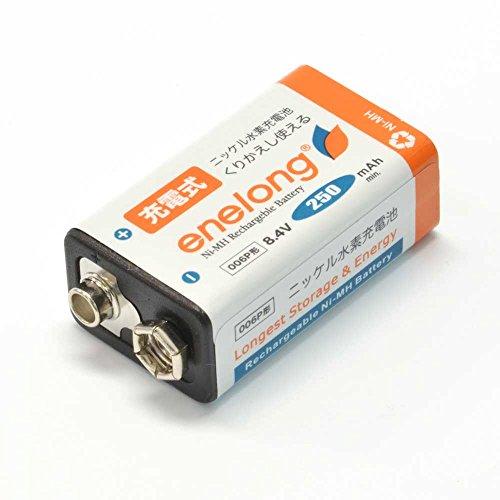 日本トラストテクノロジー enelong 006P形角型充電式ニッケル水素電池2コ入