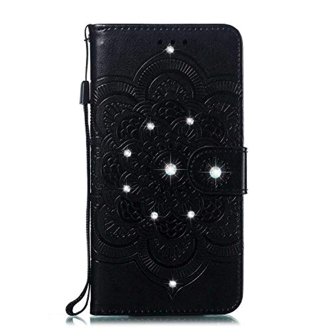 メッセージマーティンルーサーキングジュニア自治的CUNUS 高品質 合皮レザー ケース Huawei Honor 10 用, 防塵 ケース, 軽量 スタンド機能 耐汚れ カード収納 カバー, ブラック