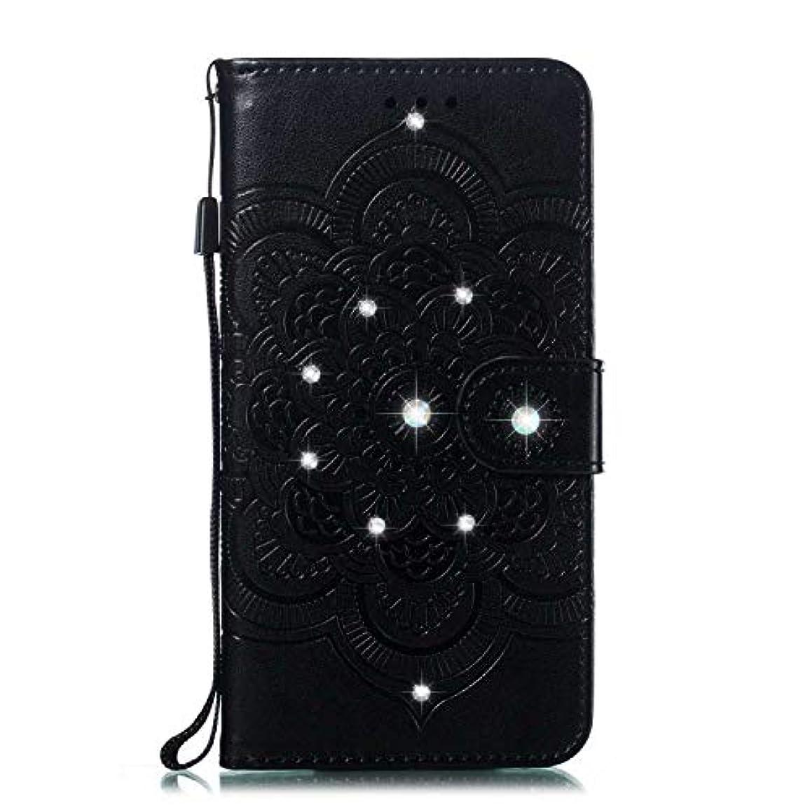 楕円形強盗適応CUNUS 高品質 合皮レザー ケース Huawei Honor 10 用, 防塵 ケース, 軽量 スタンド機能 耐汚れ カード収納 カバー, ブラック