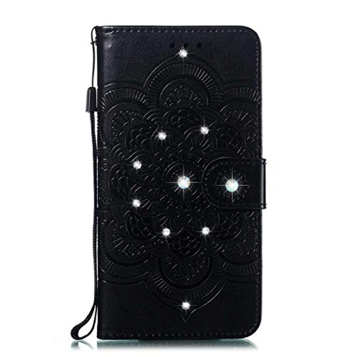 放射能化合物賛美歌CUNUS 高品質 合皮レザー ケース Huawei Honor 10 用, 防塵 ケース, 軽量 スタンド機能 耐汚れ カード収納 カバー, ブラック