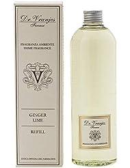 Dr Vranjes 500ml詰め替え各種2本セット(スティック無し)- Ginger Lime(ジンジャーライム) [並行輸入品]