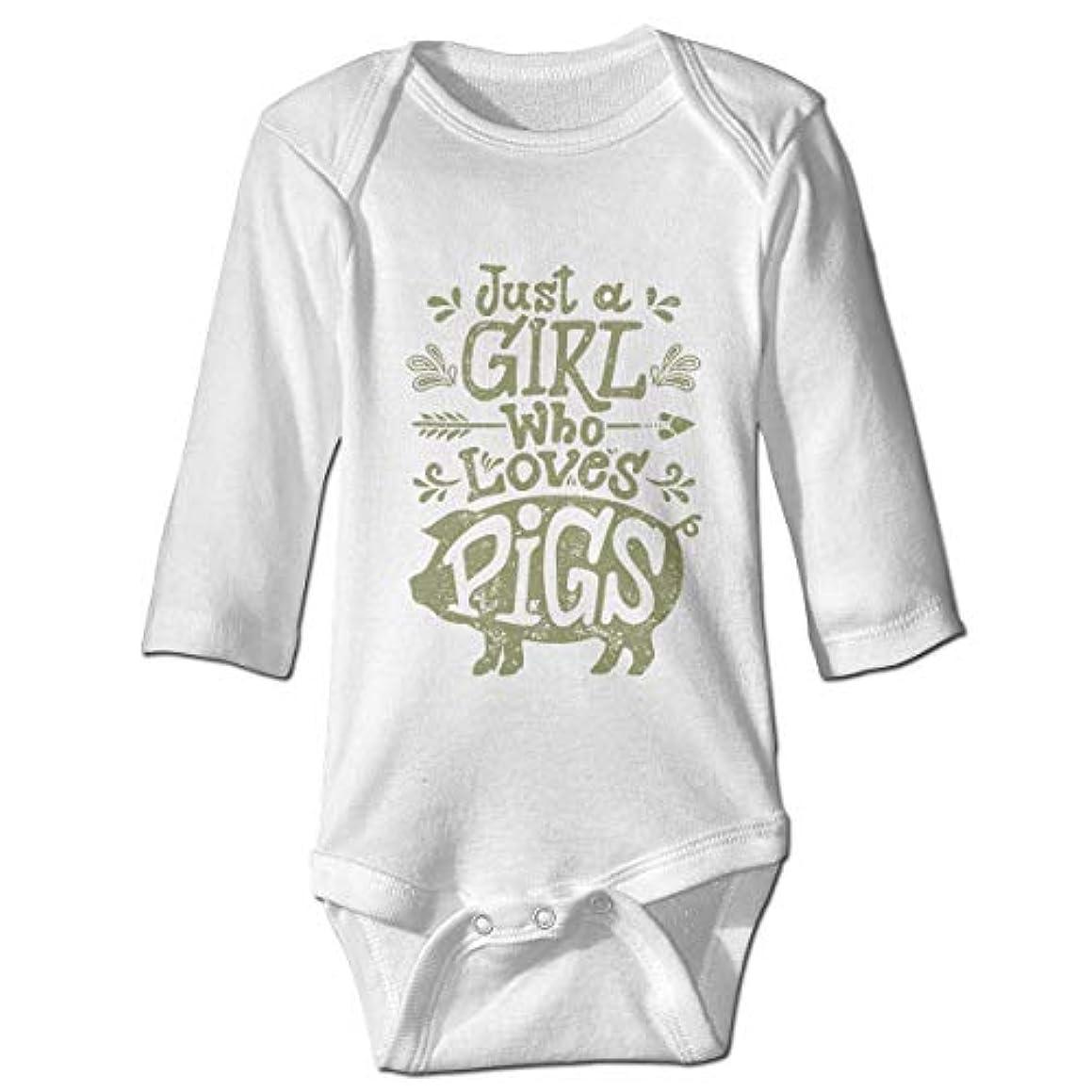火炎エスカレーターカウントアップ女の子は豚の赤ちゃんのボディースーツかわいいOnesieコットン衣装コスチューム、18 Mが大好き
