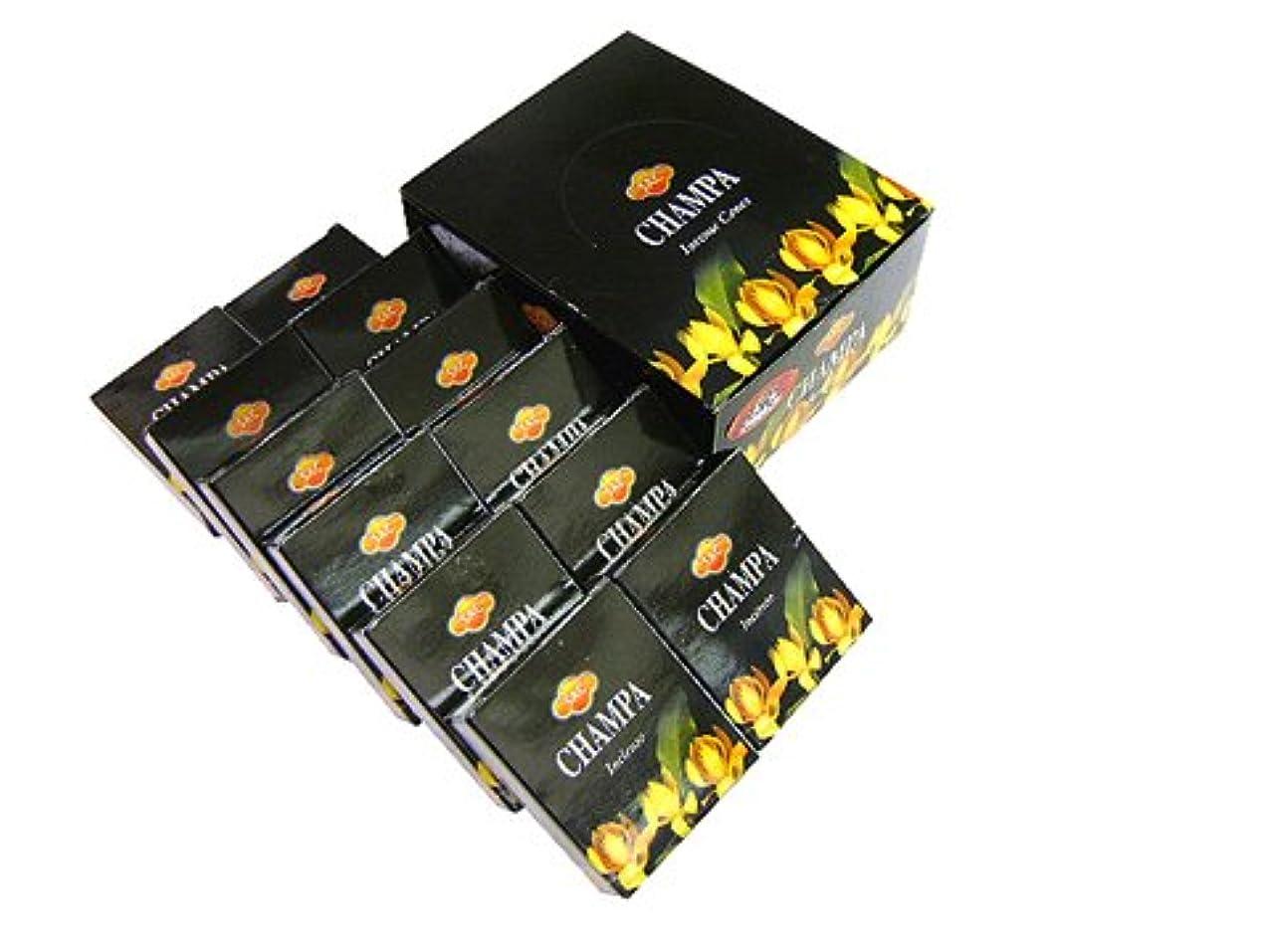 高潔なセントプラグSANDESH SAC (サンデッシュ) チャンパ香コーンタイプ CHAMPA CORN 12箱セット