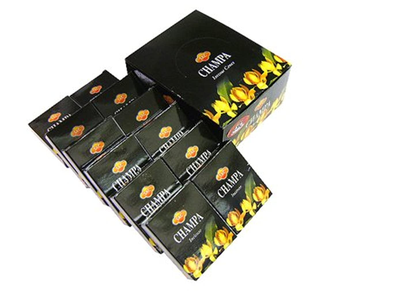 奨励します火スポーツSANDESH SAC (サンデッシュ) チャンパ香コーンタイプ CHAMPA CORN 12箱セット
