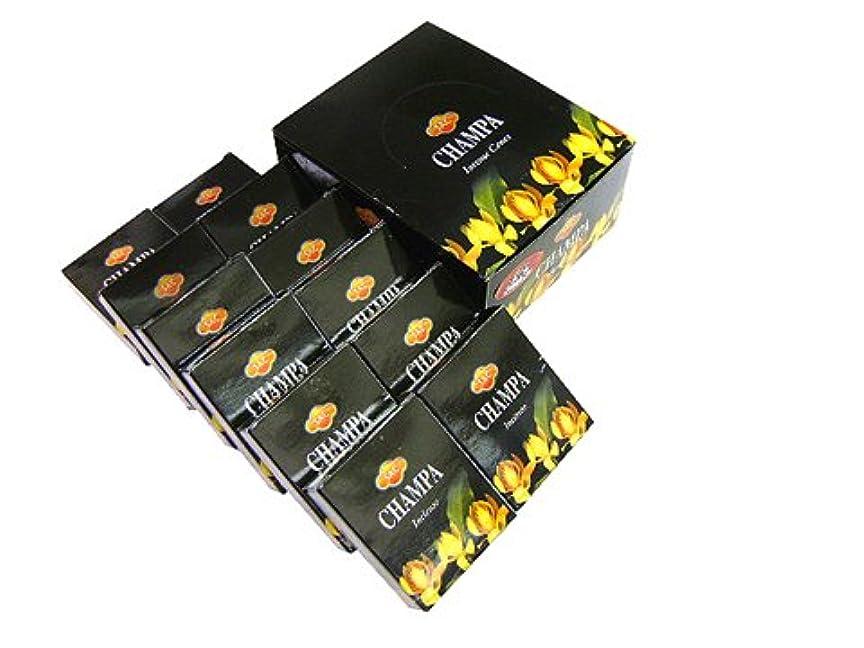 矢じり無実疾患SANDESH SAC (サンデッシュ) チャンパ香コーンタイプ CHAMPA CORN 12箱セット
