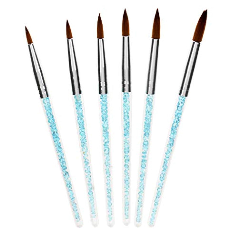 想定する錆び賢明なT TOOYFUL 6個の人魚の尾のスティックuvのゲルのマニキュアのネイルアートの描画のペンのペンブラシ