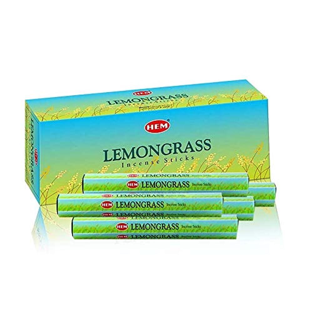 意図かんがい死ぬHEM Lemongrass 100 Incense Sticks (5 x 20 stick packs)