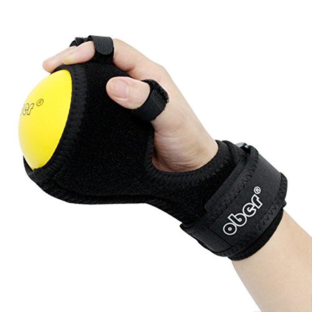 過ちくるみ親OBER リハビリ フィンガーボール 指の力を鍛えて回復トレーニンググッズ 指関節変形、屈曲、痙攣を防止するため 指奇形を固定する矯正機 脳卒中麻痺フィンガーボール