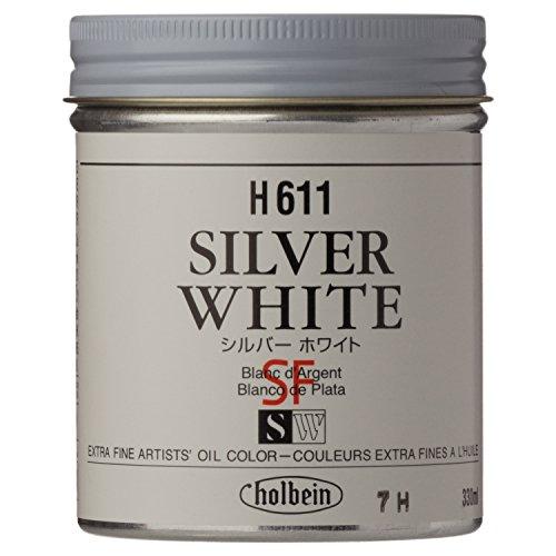 ホルベイン 油絵具  シルバーホワイト H611 330ml