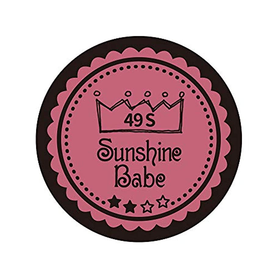 数学どうやって雪だるまSunshine Babe カラージェル 49S カシミアピンク 2.7g UV/LED対応