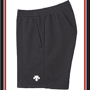 DESCENTE(デサント) バレーボール 男女兼用 ジュニア対応 練習用 クォーターパンツ DSP-1600 ブラック×ホワイト(BWH)