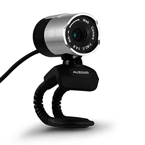 AUSDOM ウェブカメラ ウェブカム FullHD 1080P画質 webカメラ Webカム ネットワークカメラ ライブカメラ PCカメラ マイク内蔵 360度回転 ウェブ会議 ビデオ会話 Skype Facebook ビデオチャット自動低照度調整 ノイズリダクション AW335