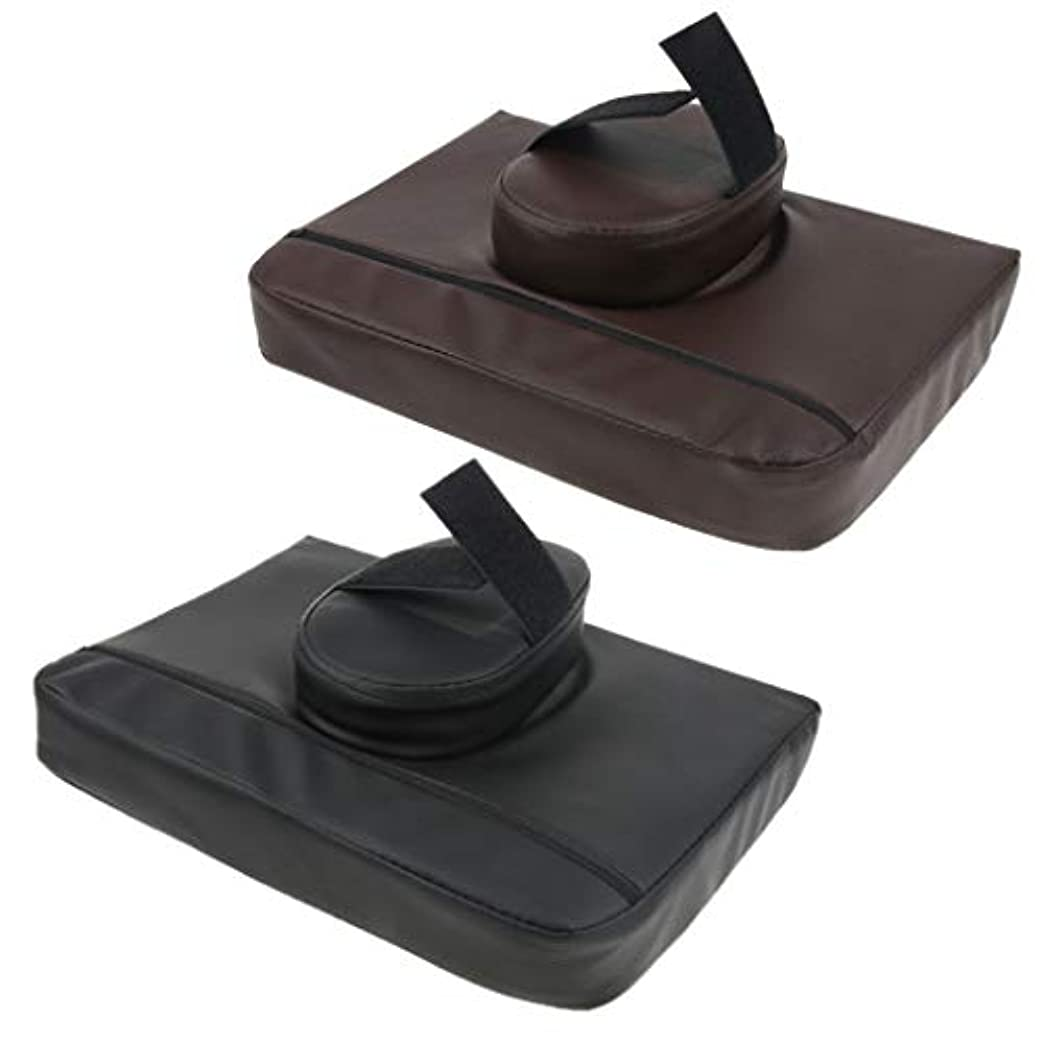 シルク命令的路地マッサージ枕 マッサージピロー マッサージクッション スクエア マッサージテーブル用 通気性 2個入
