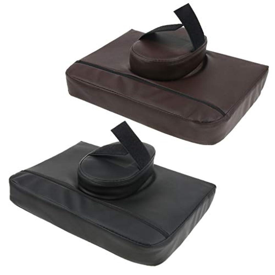 通り抜ける祈るハンドブックマッサージ枕 マッサージピロー マッサージクッション スクエア マッサージテーブル用 通気性 2個入