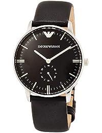 [エンポリオ アルマーニ]EMPORIO ARMANI 腕時計 BLACK LEATHER STRAP AR0382 メンズ 【正規輸入品】