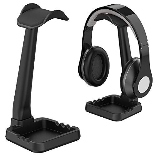 工匠藤井 ヘッドホンスタンド 組み立て簡単 ✔小物収納 ✔スマホホルダー ✔ケーブル掛け 『安定性 多機能 Sony Audio-Technica BOSE AKG Beats Panasonic KingTopなど対応 ブラック