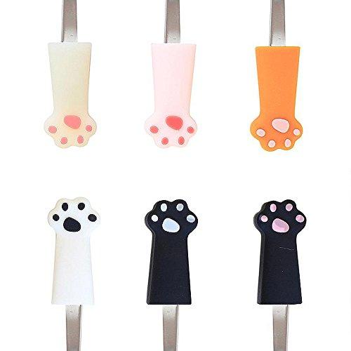 [해외]아요미 (AYOMI) 귀여운 실리콘 스테인레스 猫足 스푼 세트/Ayomi (AYOMI) cute silicon stainless steel cat spoon set