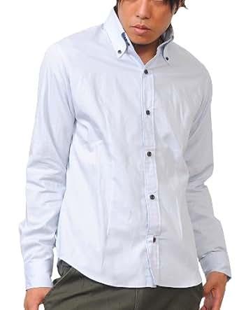 (スペイド) SPADE シャツ メンズ 長袖 カジュアル 日本製 Yシャツ きれいめ 【q185】 (M, グレー)
