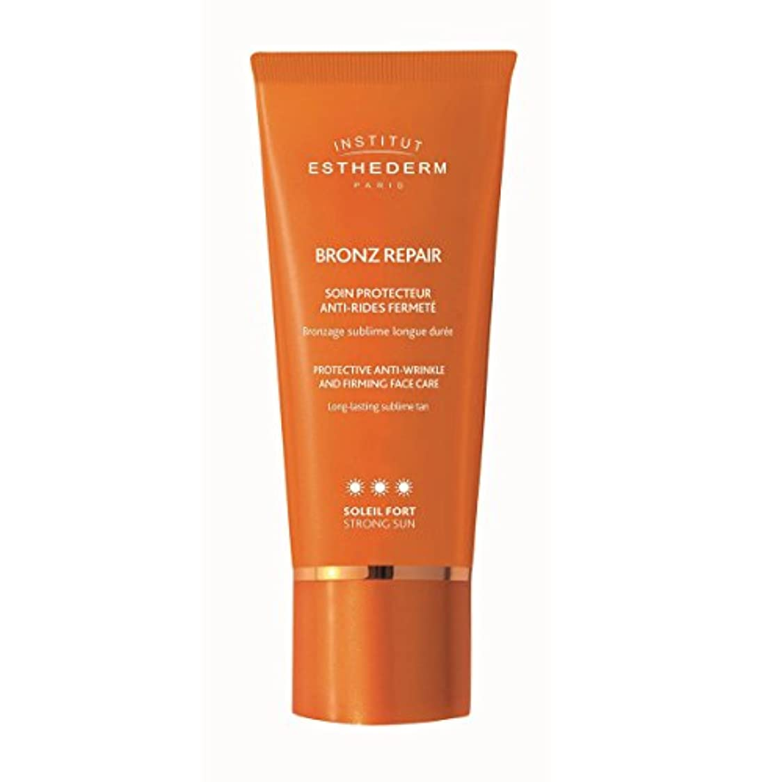 訪問夜首Institut Esthederm Bronz Repair Protective Anti-wrinkle And Firming Face Care Strong Sun 50ml [並行輸入品]