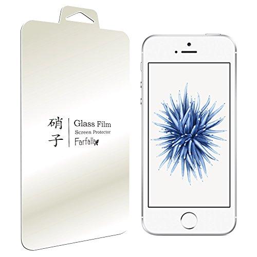 Farfalla Apple iPhone 5 / 5s / 5c / SE アンチグレア 強化ガラス液晶保護フィルム 0.3mm