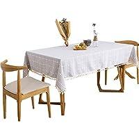 GFFTYX テーブルクロス Tablecloth - 綿と麻の小さな新鮮なヨーロッパの格子縞の長方形のテーブルクロステーブルクロスのテーブルマット ダイニングテーブルカバーティーテーブルクロス (Color : #01, Size : 90*150cm)