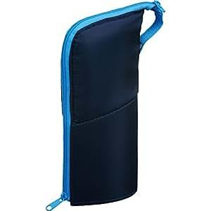 コクヨ ペンケース ネオクリッツ ラージサイズ ネイビー×ライトブルー F-VBF181-2 | ペンケース | 文房具・オフィス用品
