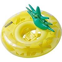 SHINING 浮き輪 子供用 足入れ式 内径22cm 足踏み式ポンプ付き 1才以上使用 暑さ対策 プール・海・川 水泳用品 可愛いデザイン (パイナップル 型)
