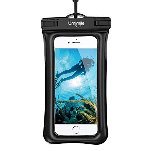 【最新版】防水ケース スマホ用 指紋認証 顔認証 IPX8防水認定 高感度タッチ 水面に浮く可能 スマホ防水ケース 携帯防水ケース iPhone XR/Xs/Xs Max/X/8/7/6/6s/Plus/5などの6.5インチ以下のスマホに対応 水中撮影 お風呂 水泳 海水浴 ダイビングなどに適用 ネックストラップ&アームバンド付き