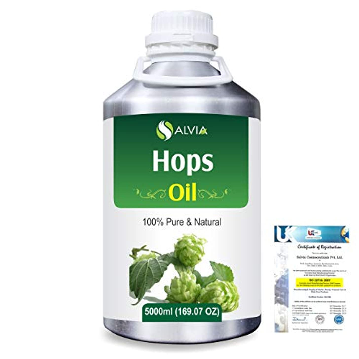 タックセマフォ太陽Hops (Humulus lupulus) 100% Natural Pure Essential Oil 5000ml/169fl.oz.