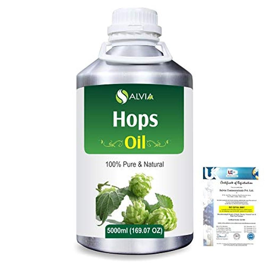 群がる血色の良い伝えるHops (Humulus lupulus) 100% Natural Pure Essential Oil 5000ml/169fl.oz.