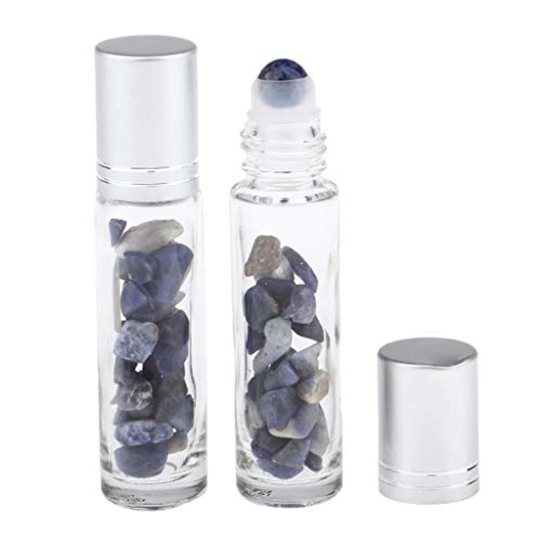 テーマメモ物語Fenteer ロールオンボトル ミニガラスアロマボトル ガラス瓶 香水 精油 液体 詰め替え 10ml 全10タイプ - 青い縞模様